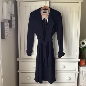 NWT Theory Black Oaklane Wrap Coat